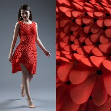 Lady in Red, 3D Printed Dress Fits to Each Woman
